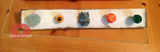 Adorable in turquoise and orange, the owl is the perfect focal point!